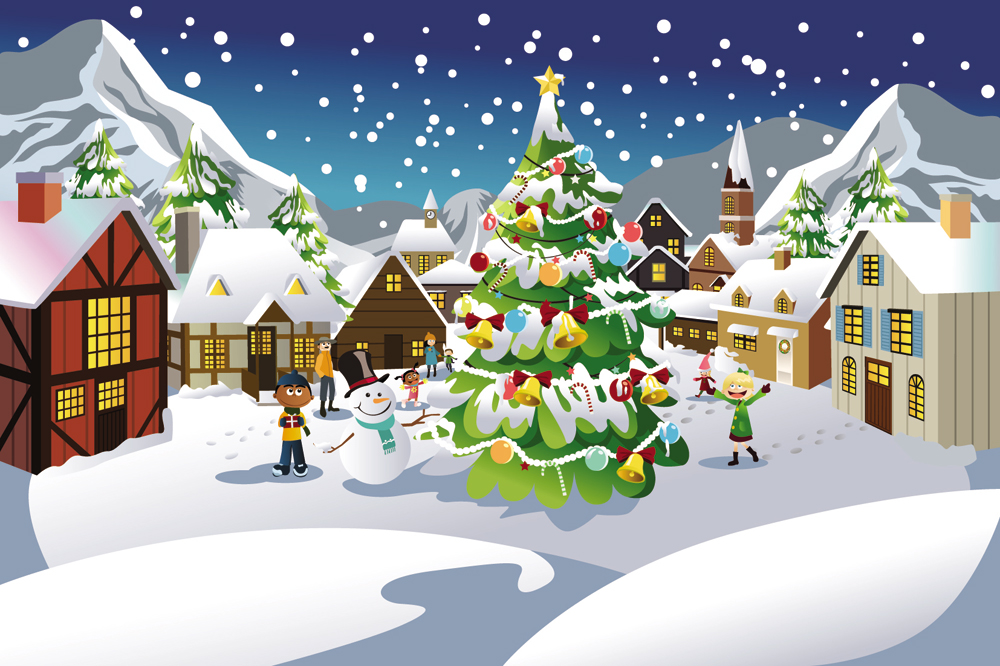 free vector christmas scene illustration 03 vector 024886 3
