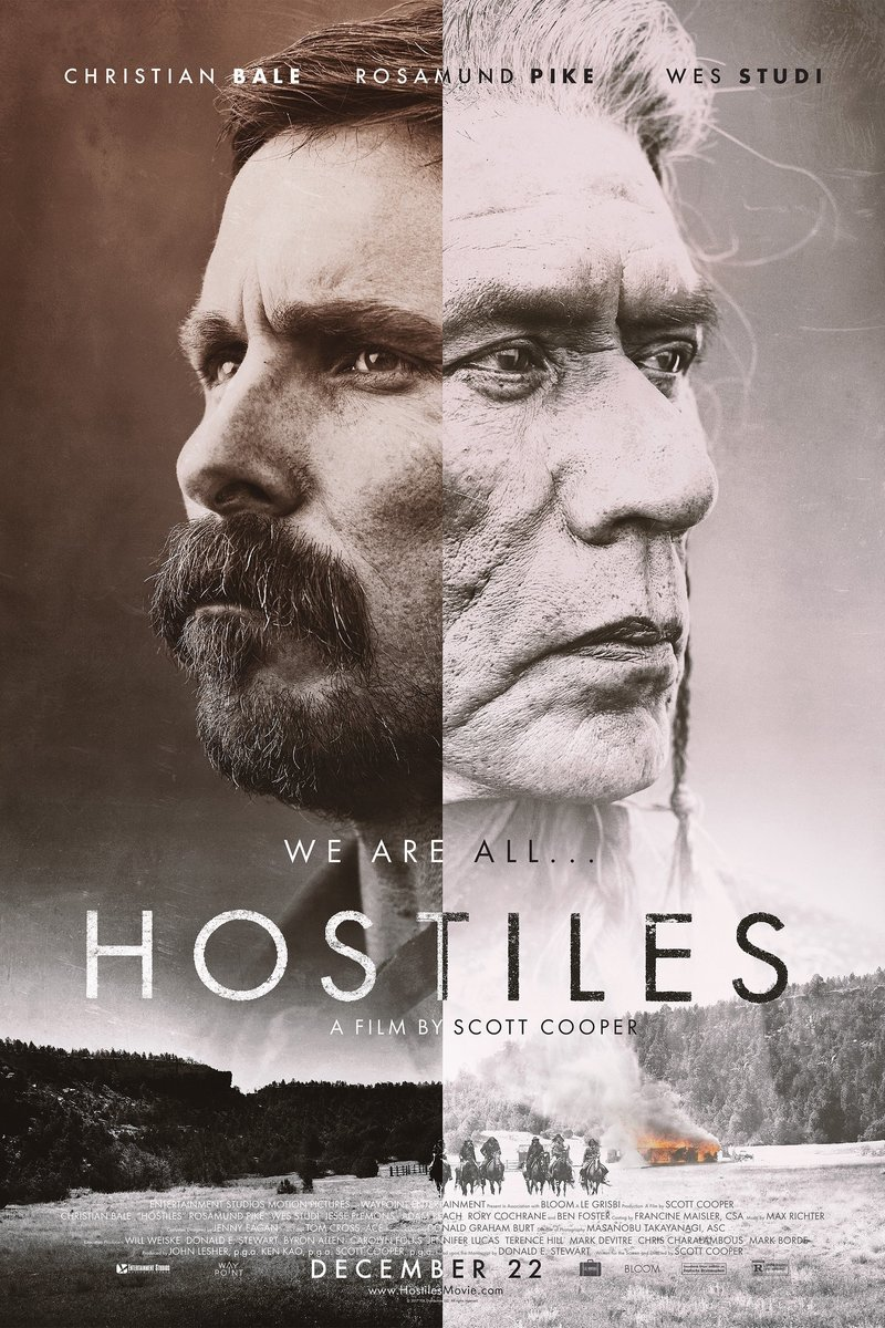 Hostiles 2018 movie poster